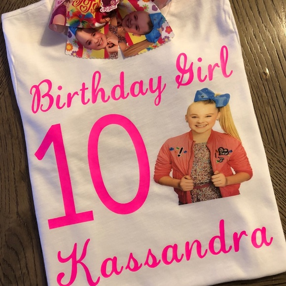 Jojo Siwa Birthday Girl Shirt Hair Bow